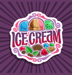 logo for ice cream vector image vector image