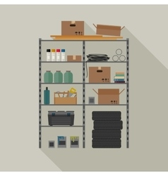 Metal storage vector image