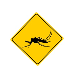 Midge warning sign vector