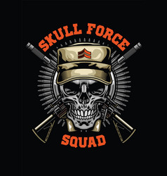 military skull design vector image