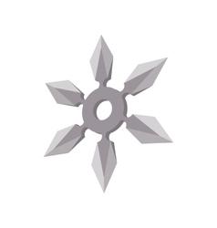 Ninja star cartoon icon vector