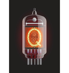 Nixie tube indicator vector image