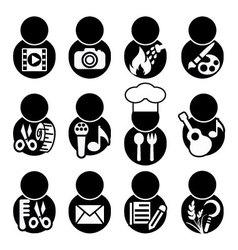 Occupations icon symbol vector