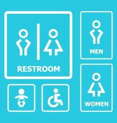 Restroom Sign set vector image vector image