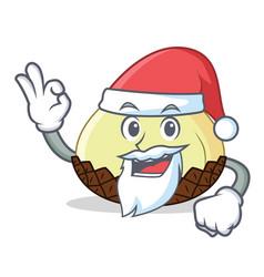 Santa snake fruit mascot cartoon vector