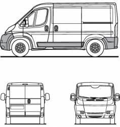 Van outline vector