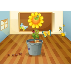 various insects in a classroom vector image vector image