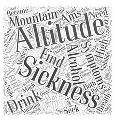 Aspen nightlife and the altitude word cloud vector