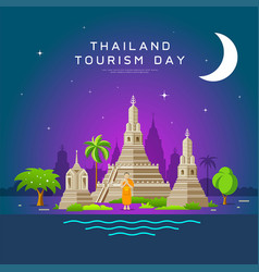 Thailand tourism landmarks holy place vector