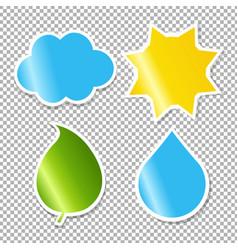 nature labels set vector image