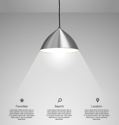 Hanging lamp vector