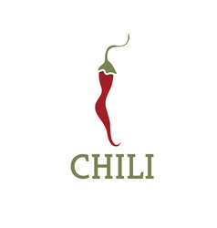 Hot chili pepper design template vector