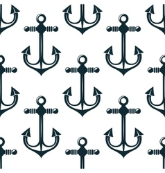 Old marine anchors seamless pattern vector image
