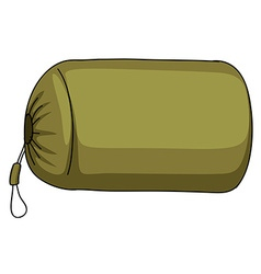 Green camping sack alone vector image