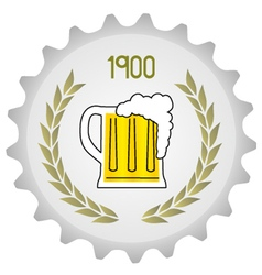 Old beer vector