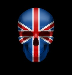 British flag skull vector