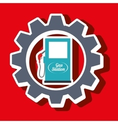 Signal of gasoline isolated icon design vector