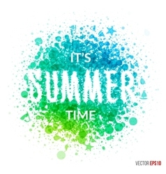 Summer beautiful design element for greeting card vector