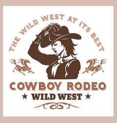 American cowboy rodeo poster vector