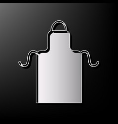 Apron simple sign gray 3d printed icon on vector