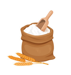 Bag of flour and wheat vector