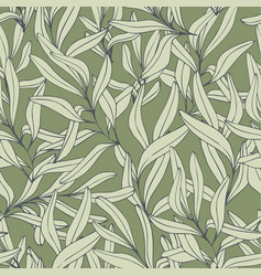 Branches hand drawing seamless pattern vector