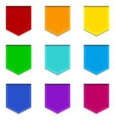Bright flat banners set vector