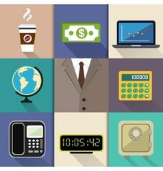 Business suit set vector image