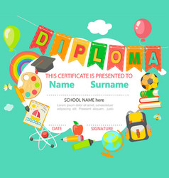 Diploma certificate background vector