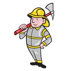 Fireman firefighter emergency worker vector