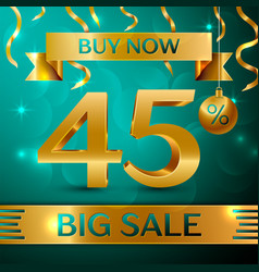 Gold big sale forty five percent for discount vector
