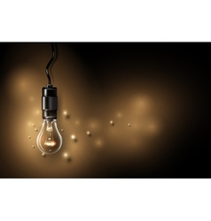 Lamp background vector image vector image