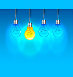 lamp creative idea on the blue background vector image vector image
