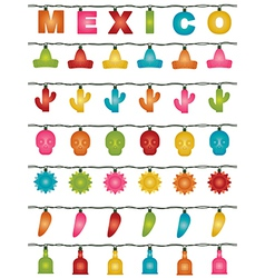 Mexican lights vector