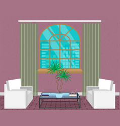 Modern living room interior design light loft vector
