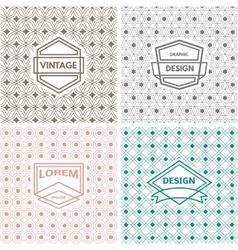 Monogram template vector