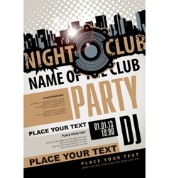 musical party in night club vector image