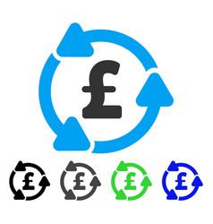 Pound circulation flat icon vector