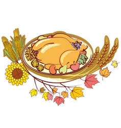 thanksgiving meal vector image vector image