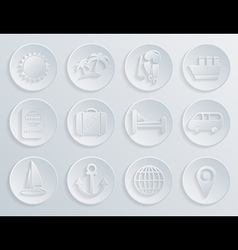 Travel icons set on white background eps10 vector