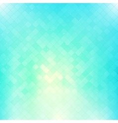 Bright blue square mosaic background vector