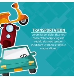 Motorcycle car transportation vehicle travel vector