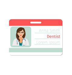 dentist medical specialist badge vector image