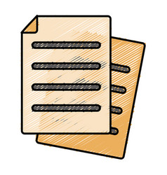 Document pages icon vector