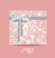 Christmas background with gift box made from vector