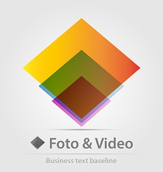 Foto and video business icon vector