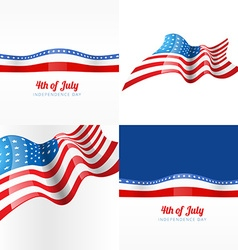4th july american independence day background vector