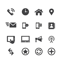 Web communication icon vector