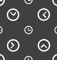 Clock sign icon mechanical clock symbol seamless vector