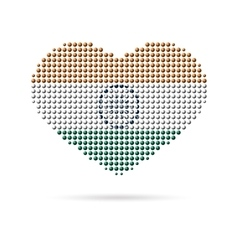 I love india creative heart flag vector